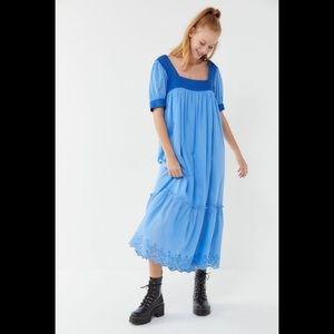 Urban outfitters Gigi puff sleeve maxi dress